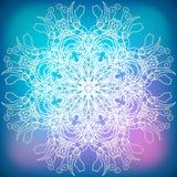Διακοσμητικό αφηρημένο snowflake διανυσματική απεικόνιση