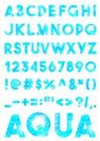 Διακοσμητικό αλφάβητο aqua μωσαϊκών Στοκ Φωτογραφίες