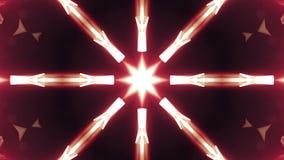 Διακοσμητικό γεωμετρικό αστέρι καλειδοσκόπιων σχεδίων άνευ ραφής δυναμικό ποιοτικών καθολικό κινήσεων βρόχων νέο που ζωντανεύει π διανυσματική απεικόνιση