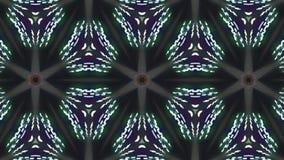 Διακοσμητικό γεωμετρικό ελαφρύ αστέρι caleidoscope που κινεί δυναμικό ζωντανεψοντα ζωηρόχρωμο ποιοτικών καθολικό κινήσεων σχεδίων απεικόνιση αποθεμάτων