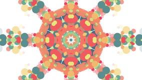 Διακοσμητικό γεωμετρικό κινούμενο σχέδιο λουλουδιών καλειδοσκόπιων - νέο ζωηρόχρωμο καθολικό μορφής ποιοτικών αναδρομικό εκλεκτής ελεύθερη απεικόνιση δικαιώματος