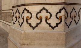 Διακοσμητικό γεωμετρικό μαρμάρινο Inlay σχέδιο Στοκ εικόνες με δικαίωμα ελεύθερης χρήσης
