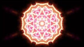 Διακοσμητικό γεωμετρικό υπόβαθρο ζωτικότητας λουλουδιών καλειδοσκόπιων φλογών - νέα ζωηρόχρωμη κίνηση ποιοτικής αναδρομική εκλεκτ ελεύθερη απεικόνιση δικαιώματος