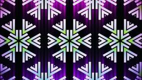 Διακοσμητικό γεωμετρικό snowflake αστεριών caleidoscope που κινεί δυναμικό ζωντανεψοντα ζωηρόχρωμο ποιοτικών καθολικό κινήσεων σχ διανυσματική απεικόνιση