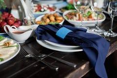 Διακοσμητικό εορταστικό γεύμα Στοκ Φωτογραφία