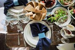 Διακοσμητικό εορταστικό γεύμα Στοκ φωτογραφία με δικαίωμα ελεύθερης χρήσης