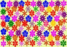 Διακοσμητικό ζωηρόχρωμο floral υπόβαθρο Στοκ Φωτογραφία