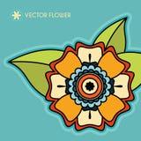 Διακοσμητικό διανυσματικό λουλούδι Στοκ Φωτογραφία