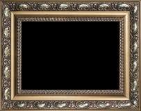 Διακοσμητικό κενό χρυσό ξύλινο πλαίσιο εικόνων Στοκ φωτογραφία με δικαίωμα ελεύθερης χρήσης