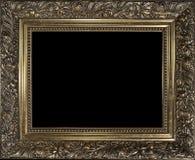 Διακοσμητικό κενό χρυσό ξύλινο πλαίσιο εικόνων Στοκ εικόνα με δικαίωμα ελεύθερης χρήσης