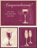 διακοσμητικό κρασί ανασκοπήσεων ελεύθερη απεικόνιση δικαιώματος
