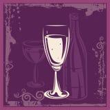 διακοσμητικό κρασί ανασκόπησης απεικόνιση αποθεμάτων