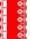 Διακοσμητικό κόκκινος-λευκό συνόρων Στοκ Εικόνες