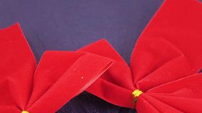 διακοσμητικό κόκκινο τόξων απόθεμα βίντεο