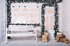 Διακοσμητικό μέρος με τη διακόσμηση Χριστουγέννων Στοκ Φωτογραφία