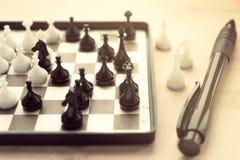 Διακοσμητικό μίνι σκάκι Στοκ Φωτογραφίες