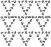 Διακοσμητικό μαύρο floral σχέδιο Στοκ Εικόνες