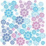 Διακοσμητικό μπλε floral υπόβαθρο Άνευ ραφής σχέδιο για τα des σας Στοκ εικόνες με δικαίωμα ελεύθερης χρήσης