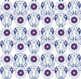 Διακοσμητικό μπλε floral υπόβαθρο Άνευ ραφής σχέδιο για τα des σας Στοκ εικόνα με δικαίωμα ελεύθερης χρήσης