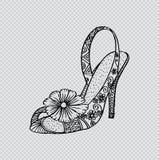 Διακοσμητικό παπούτσι γυναικών ` s Στοκ φωτογραφία με δικαίωμα ελεύθερης χρήσης