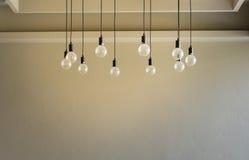 Διακοσμητικό παλαιό φως ύφους του Edison Στοκ Εικόνες