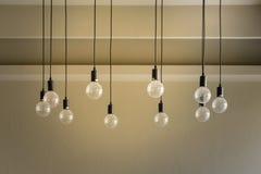 Διακοσμητικό παλαιό φως ύφους του Edison Στοκ εικόνα με δικαίωμα ελεύθερης χρήσης