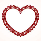 Διακοσμητικό πλαίσιο καρδιών βαλεντίνων διανυσματική απεικόνιση