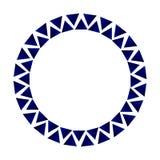 Διακοσμητικό πλαίσιο κύκλων τριγώνων Στοκ φωτογραφίες με δικαίωμα ελεύθερης χρήσης