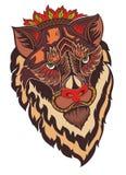 Διακοσμητικό πρόσωπο τιγρών απεικόνιση αποθεμάτων