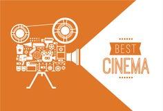 Διακοσμητικό πρότυπο κινηματογράφων Στοκ φωτογραφία με δικαίωμα ελεύθερης χρήσης