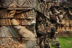 διακοσμητικό πρότυπο της Καμπότζης περιοχής angkor thom Στοκ εικόνες με δικαίωμα ελεύθερης χρήσης
