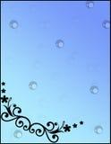 Διακοσμητικό πλαίσιο με floral στοκ εικόνα