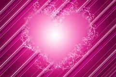 διακοσμητικό ροζ καρδιών διανυσματική απεικόνιση