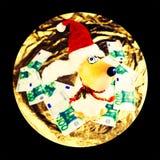 Διακοσμητικό σκυλί santa παιχνιδιών Στοκ Εικόνες