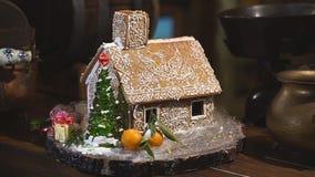 Διακοσμητικό σπίτι για τις διακοπές Χριστουγέννων απόθεμα βίντεο
