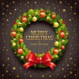 Διακοσμητικό στεφάνι Χριστουγέννων Στοκ φωτογραφία με δικαίωμα ελεύθερης χρήσης