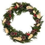 Διακοσμητικό στεφάνι Χριστουγέννων Στοκ Φωτογραφίες
