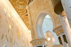 Διακοσμητικό στοιχείο στο Sheikh μεγάλο μουσουλμανικό τέμενος Zayed Στοκ Εικόνες