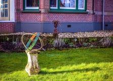 Διακοσμητικό στοιχείο του σχεδίου πάρκων σε Giethoorn, Κάτω Χώρες Στοκ Εικόνα