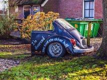Διακοσμητικό στοιχείο του σχεδίου πάρκων σε Giethoorn, Κάτω Χώρες Στοκ Φωτογραφία