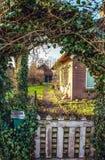 Διακοσμητικό στοιχείο του σχεδίου πάρκων σε Giethoorn, Κάτω Χώρες Στοκ εικόνα με δικαίωμα ελεύθερης χρήσης