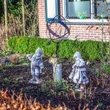 Διακοσμητικό στοιχείο του σχεδίου πάρκων σε Giethoorn, Κάτω Χώρες Στοκ φωτογραφία με δικαίωμα ελεύθερης χρήσης