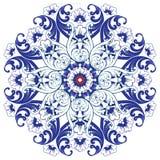 Διακοσμητικό στρογγυλό πολύχρωμο floral σχέδιο Στοκ Φωτογραφίες