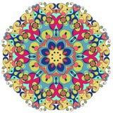 Διακοσμητικό στρογγυλό περίκομψο mandala για την τυπωμένη ύλη ή το σχέδιο Ιστού Αφηρημένο ζωηρόχρωμο υπόβαθρο Mandala Διανυσματική απεικόνιση