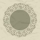 Διακοσμητικό στρογγυλό πλαίσιο Στοκ εικόνες με δικαίωμα ελεύθερης χρήσης