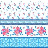 Διακοσμητικό σχέδιο με τα λουλούδια Στοκ Φωτογραφία
