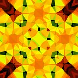 Διακοσμητικό σχέδιο μωσαϊκών στο πορτοκαλί χρώμα νέου για το σύγχρονο δημιουργικό σχέδιο Στοκ Εικόνες
