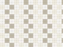 Διακοσμητικό σχέδιο τετραγώνων στο άσπρο υπόβαθρο Στοκ Εικόνα