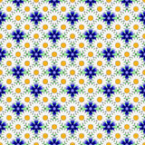 Διακοσμητικό σχέδιο λουλουδιών σχεδίου άνευ ραφής ζωηρόχρωμο Στοκ Εικόνες