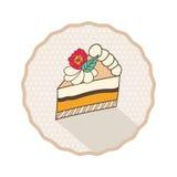 Διακοσμητικό σχέδιο πλαισίων προτύπων με το κομμάτι κέικ, Στοκ εικόνες με δικαίωμα ελεύθερης χρήσης